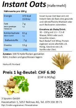Instant Oats / Instant-Hafer / Hafermehl