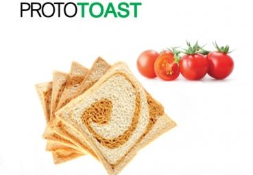 Prototoast tomato - low carb und ballaststoffreich, 20 % Protein, 16 Scheiben, 200g-Packung, CiaoCarb Stage 2