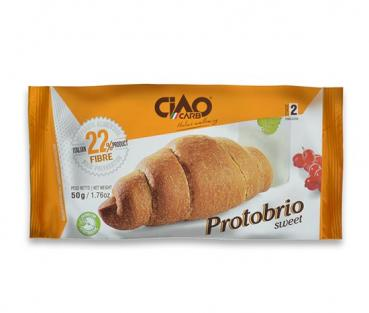 PROTOBRIO Sweet CiaoCarb Stage 2, Butter - Gipfeli - Form, low carb und ballaststoffreich, 15 % Protein